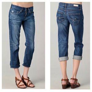 AG Jeans distressed Ex Boyfriend Crop 9 years Soft
